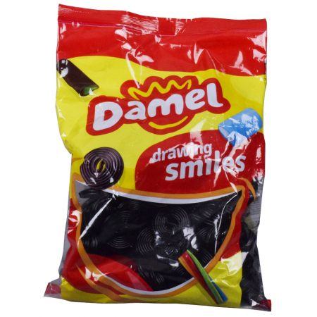 Damel Licorice Wheels 1kg Halal