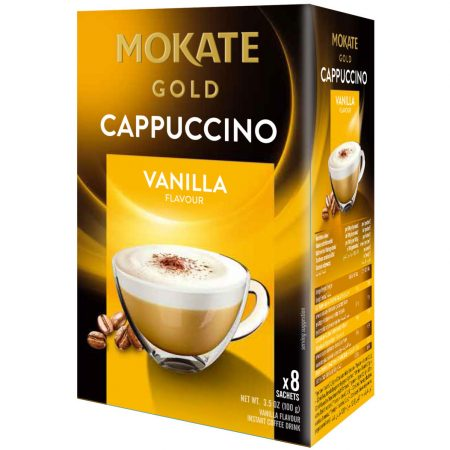 "Mokate Gold ""Cappuccino Vanille"" Instant Koffie 8 x 12,5g"
