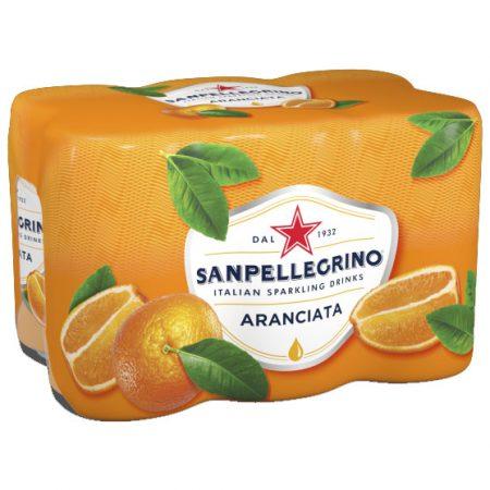 San Pellegrino Sinaasappelsmaak 6x33cl