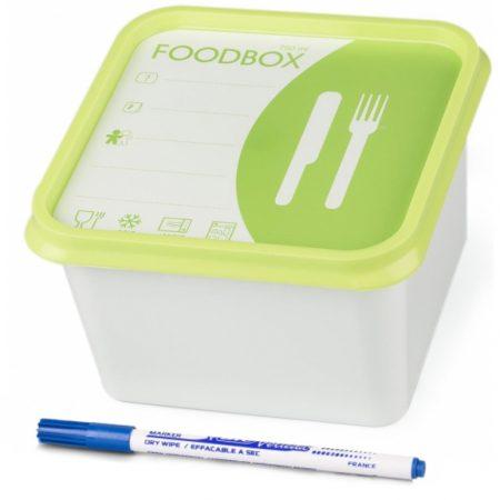 Foodbox Met Whiteboardmarker 750ml - 4 Stuks