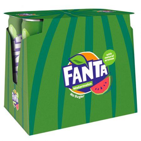 Fanta Watermeloen No Sugar 6x250ml