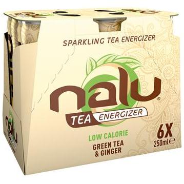 Nalu Fruity Energizer Green Tea & Ginger 6 x 25cl
