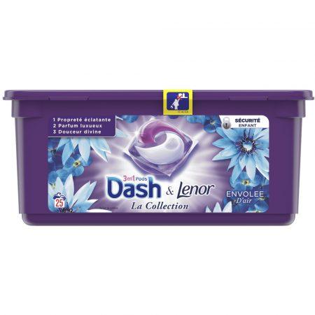 Dash & Lenor 3in1 Pods Envolee D'air – 25 wasb