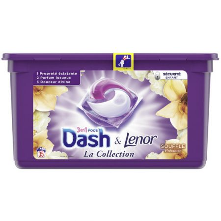 Dash & Lenor 3in1 Pods Souffle Précieux – 35wasb