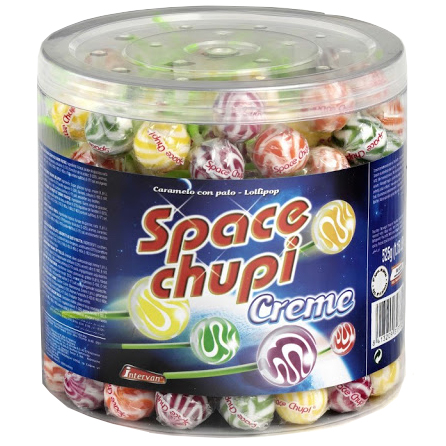 Space Chupi Crème Lollies 150 Stuks