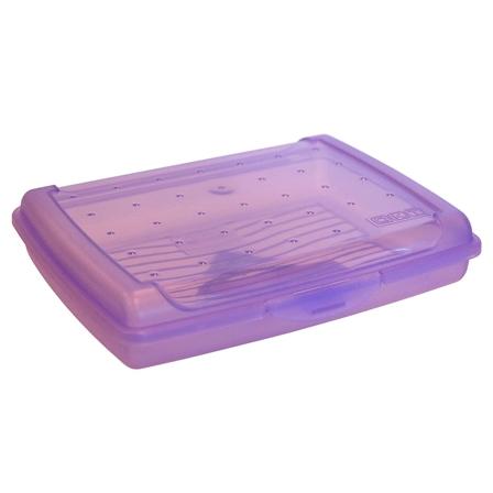 Broodtrommel Click Box Mini Paars 0,5l