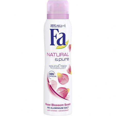 Fa deodorant Spray 150ml Natural & Pure Rose Blossom