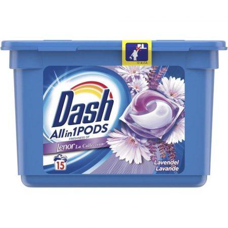 Dash all in 1 pods 15 wasbeurten lavendel