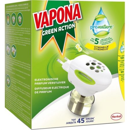 Vapona green action Anti mug apparaat + 1 navulling