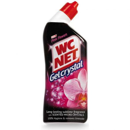 wc net gel crystal pink flower