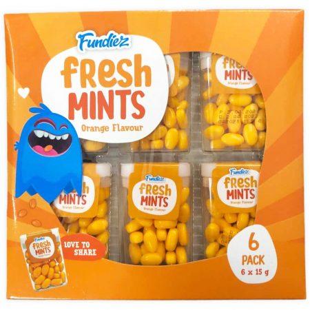 Fundiez Fresh Mints 6 x 15g Orange Flavor