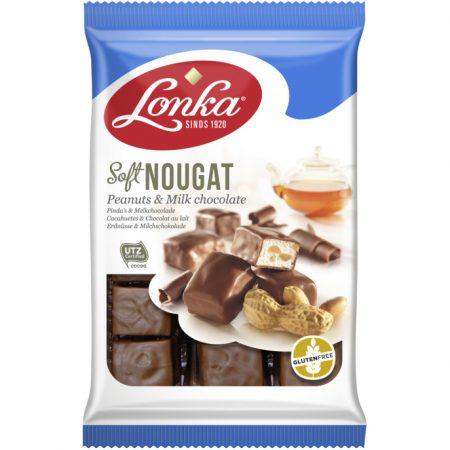 Lonka Soft Nougat Peanuts & Milk Chocolate 160gr